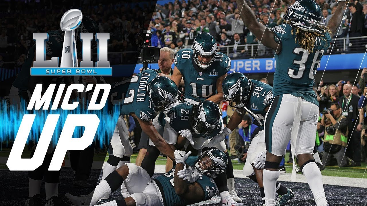 """Eagles vs. Patriots Mic'd Up """"You Want Philly Philly?"""" 