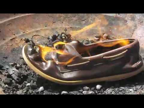 Burning brown leather Sperry Topsider