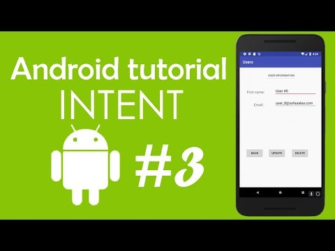 Android Tutorial #3 - Using Intent Object To Start An Activity