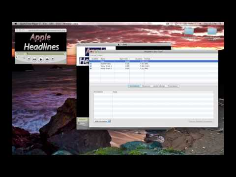 How to watermark a video using Quicktime Player 7