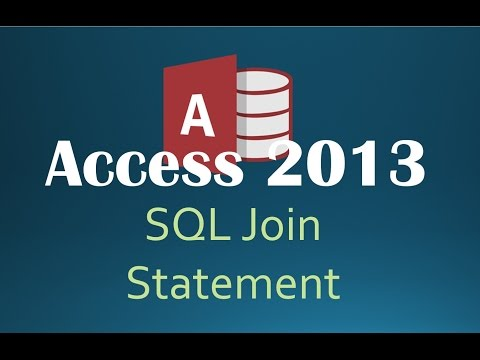 62. SQL JOIN Statement (Programming In Access 2013)