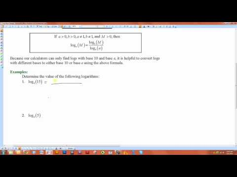 How to Change the Base of Logarithmic Expression