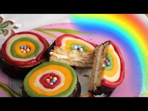 Easy No Bake Rainbow Cookies