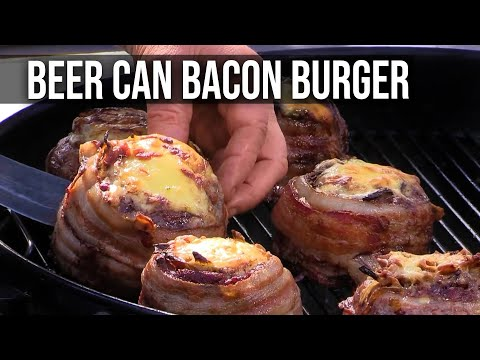 Beer Can Bacon Burger recipes by the BBQ Pit Boys