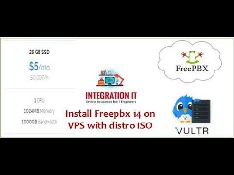 Installing Freepbx 14 on Vultr VPS server using custom iso image for just 5$ /m