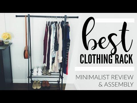 Clothing Rack Review & Assembly | Minimalist Wardrobe | Songmics Clothing Rack