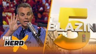 Blazin' 5: Colin's picks for 2017-18 NFL Week 11 | THE HERD