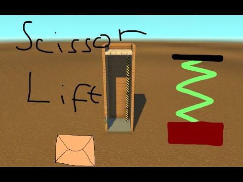 Scrap Mechanic TUTORIAL - SCISSOR LIFT/ELEVATOR! - Let's play Scrap Mechanic