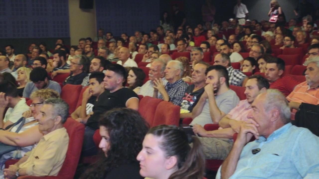 Ερωτήσεις του κοινού στον Γιάνη Βαρουφάκη στο Ηράκλειο