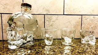Crystal Head Bottle Skull Glasses First Look Pour
