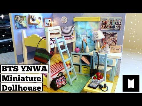 DIY Miniature Dollhouse BTS Bedroom (YNWA/Spring Day Theme)