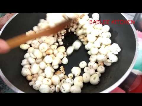 Makhana Crispy Namkeen Recipe | Lotus Seeds Namkeen