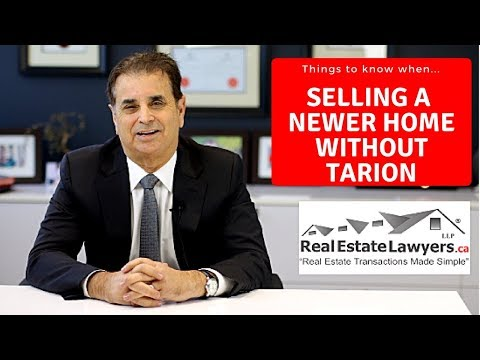 Selling a Newer Home Not Covered By Tarion