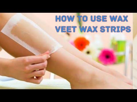 How To use veet wax strips/व्व्त वाक्स स्ट्रीप कैसे करें यूज़