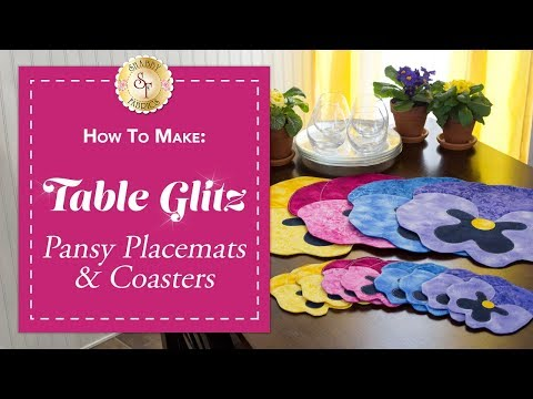 How to Make Pansy Placemats & Coasters | A Shabby Fabrics Sewing Tutorial