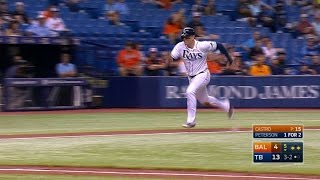 BAL@TB: Peterson scores Morrison with a sac fly