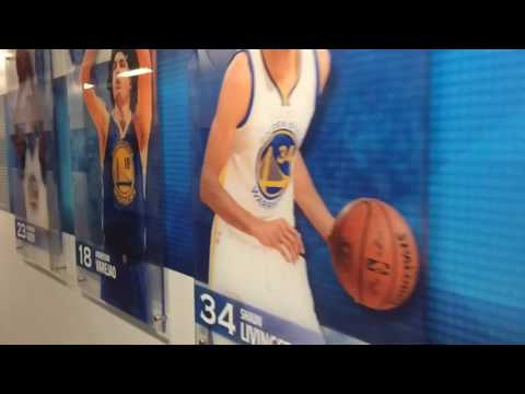 Early pregame tour of Oracle Arena courtside and tunnel before Warriors (35-6) vs OKC Thunder