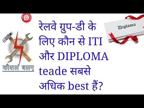 iti and diploma trade for indian railway group d post/railway group d iti or diploma