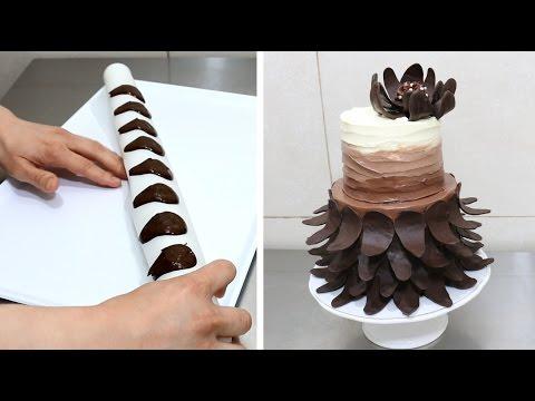Easy Chocolate Decoration Cake Decorar con Chocolate by CakesStepbyStep
