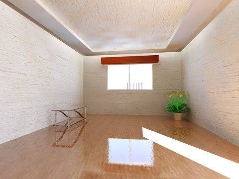 AutoCAD Rendering Settings Interior Bedroom Complete 1/10