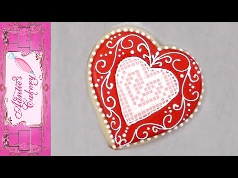 Lace and Scroll Cookie with Royal Icing
