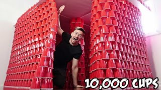 DIY GIANT CUP FORT!! (10,000 CUPS)