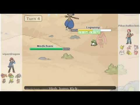 Pokémon Showdown Battle #34 - Medicham High Jump Kicks Lopunny (OU)