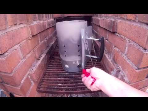 How to use a Charcoal Chimney Starter - Lighting a Charcoal Grill