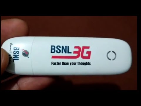 Dont Miss Free 3G Dongle with Pendrive for BSNL Internet