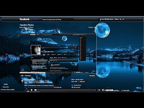 Tutorial Facebook Theme and Music 2013