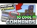 Download Minecraft - 10 COOL COMMANDS [ Easy Tutorial ] MCPE / Bedrock / Xbox /Java / Windows 10 MP3,3GP,MP4