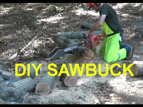 Making Sawbuck From Scrap Materials & Cutting Fire wood