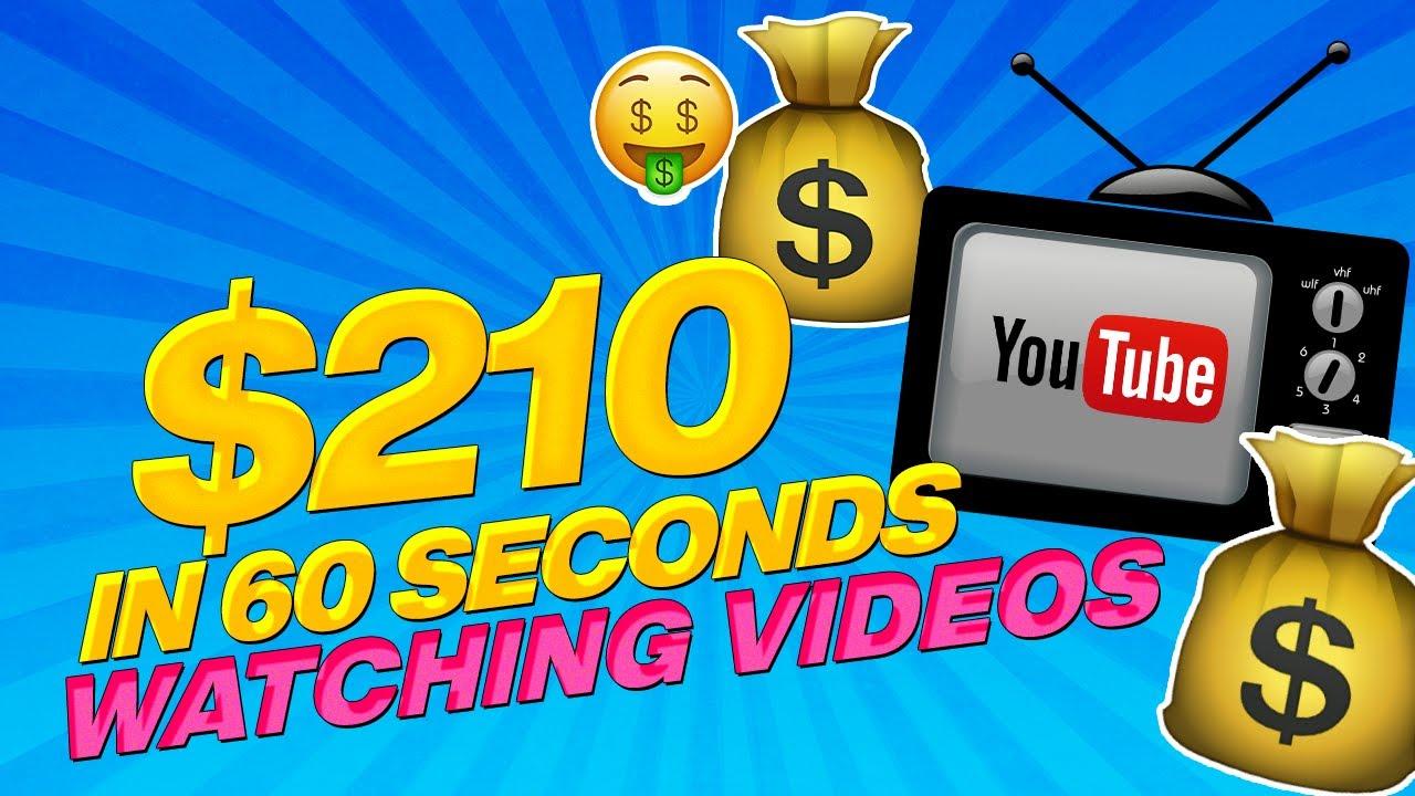 🔥 Fast $210 In 60 Seconds Watching Youtube Videos! (WORLDWIDE) Make Money Online 2020