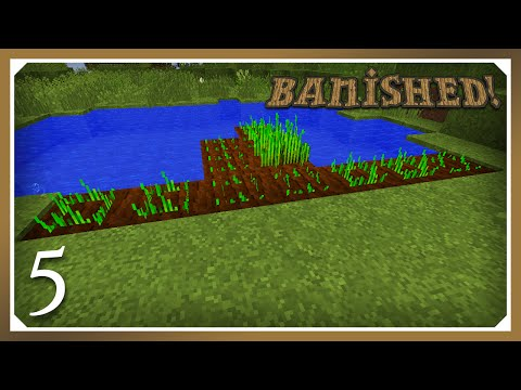 Minecraft Banished Modpack | Growing Wheat! | E05 (Harsh Survival Minecraft 1.10.2)