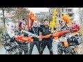 Download  LTT Films : Silver Flash Black Man Nerf Guns Fight Criminal Group Tiger Mask Over War MP3,3GP,MP4