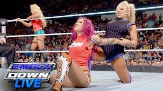 Sasha Banks vs. Charlotte & Dana Brooke - 2-on-1 Handicap Match: SmackDown Live, July 19, 2016