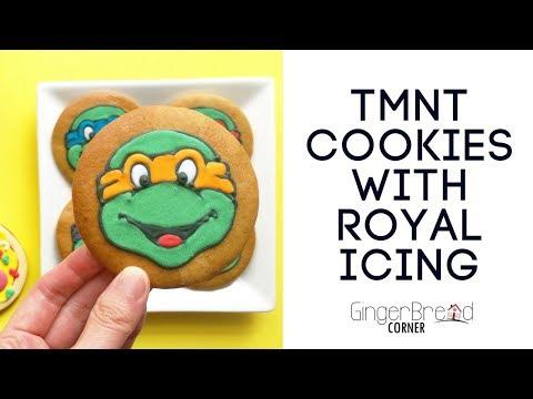 Teenage Mutant Ninja Turtles cookie decorating with Royal Icing