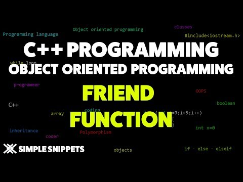 Friend Functions in C++ Programming | Object Oriented Programming in C++
