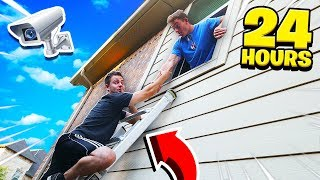 MY FRIENDS SNEAKED INTO MY HOUSE FOR 24 HOURS!