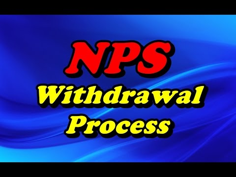 NPS withdwarwal Process for Central Govt. Employees