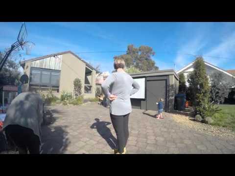 Backyard Movie Nights Time-lapse set up ! Movie Nights