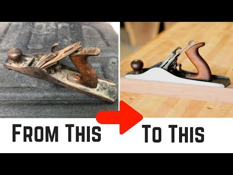How To Restore A Hand Plane // Woodworking // DIY Hand Tool Restoration