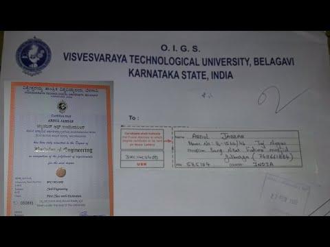 VTU Convocation Degree Certificate UnBoxing📚