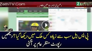 PSL Final Match was Highly Searched in India