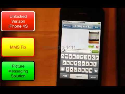 Set Up MMS Picture Messaging For T-mobile on Your Unlocked iPhone 4S Verizon Tutorial Part 2