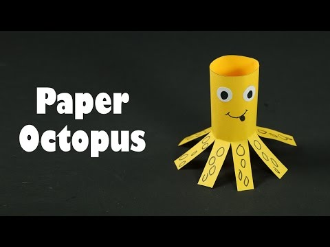 Paper Animals Crafts for Kids - Paper Octopus DIY Tutorial