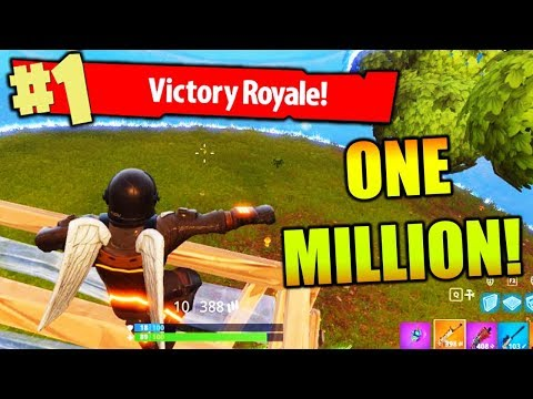 ONE MILLION SUBSCRIBERS!!! (Fortnite Battle Royale Gameplay)