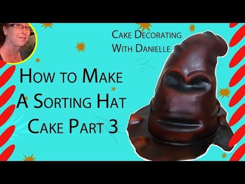 How to make a Sorting Hat Cake Part 3 - Cakes for Kids