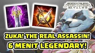 6 Menit Legendary! Zuka EMEJING! 1 2 Hit Babay! - Arena Of Valor AOV