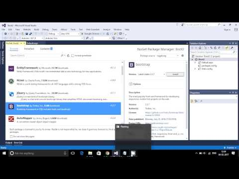 How to add Bootstrap in Visual Studio 2015 asp.net c# 5.0